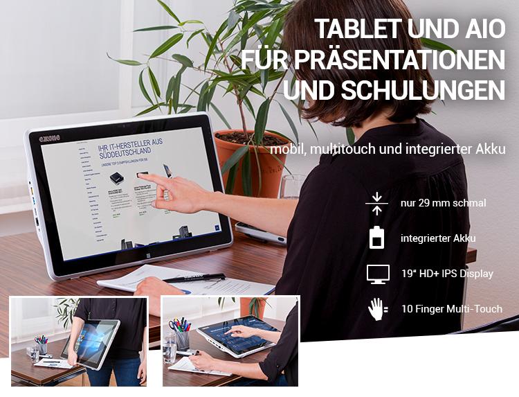 TABLET UND AIO FÜR PRÄSENTATIONEN UND SCHULUNGEN - mobil, multitouch und integrierter Akku