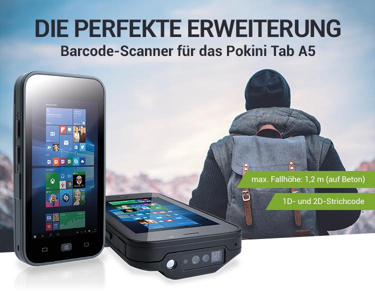 DIE PERFEKTE ERWEITERUNG - Barcode-Scanner für das Pokini Tab A5