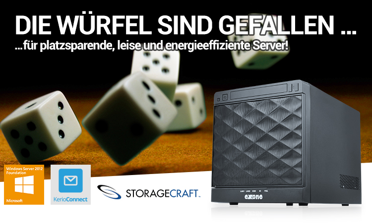 DIE WÜRFEL SIND GEFALLEN für platzsparende, leise und energieeffiziente Server!
