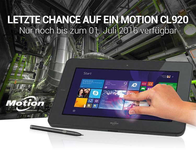 LETZTE CHANCE AUF EIN MOTION CL920 - Nur noch bis zum 01. Juli 2016 verfügbar