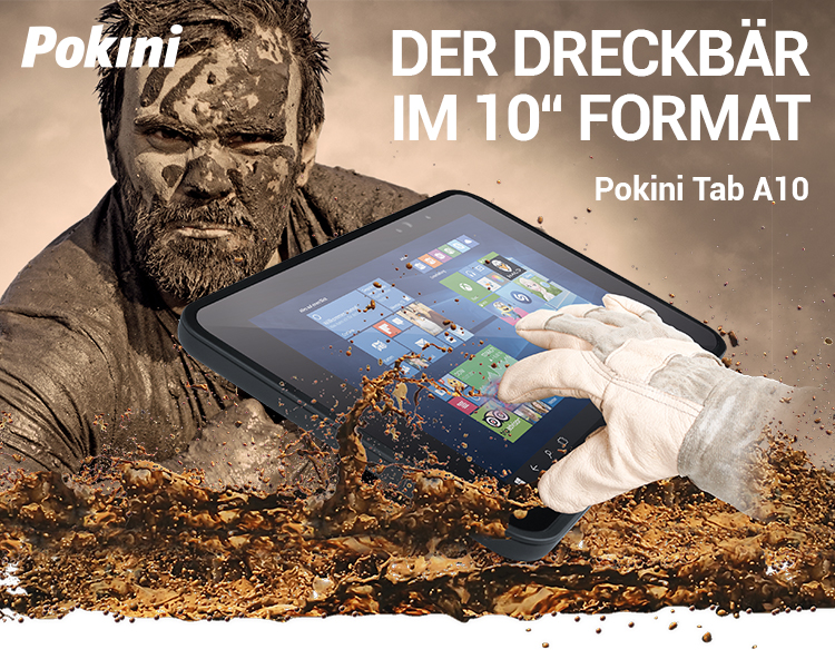 DER DRECKBÄR IM 10'' FORMAT: Pokini Tab A10