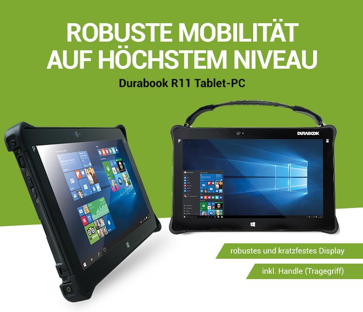 ROBUSTE MOBILITÄT AUF HÖCHSTEM NIVEAU - Durabook R11 Tablet-PC