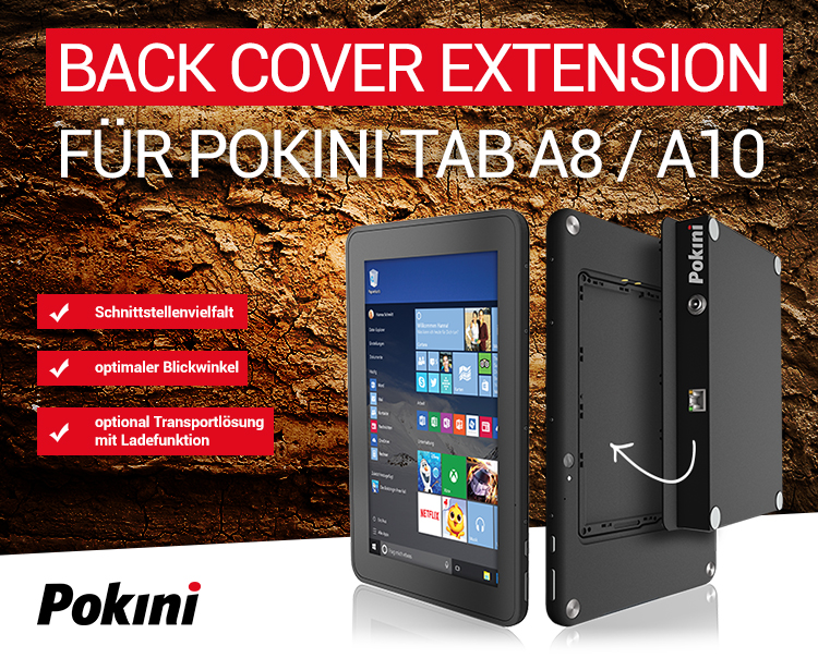 BACK COVER EXTENSION FÜR POKINI TAB A8/A10