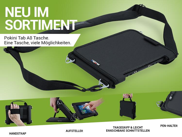 NEU IM SORTIMENT: Pokini TAB A8 Tasche. Eine Tasche, viele Möglichkeiten.