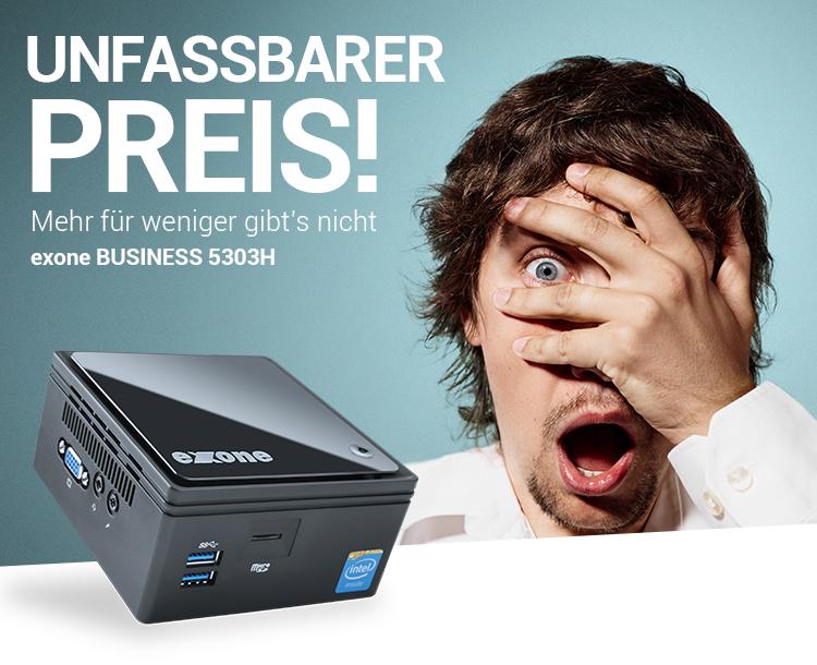 UNFASSBARER PREIS! - Mehr für weniger gibt's nicht: exone BUSINESS 5303H