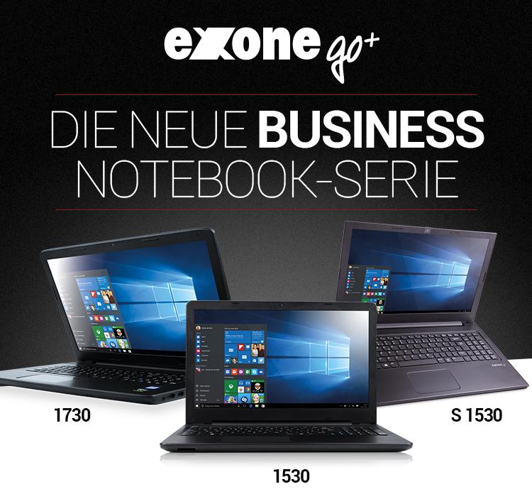 exone go+ - die neue Notebookserie: 1730, 1530, S 1530