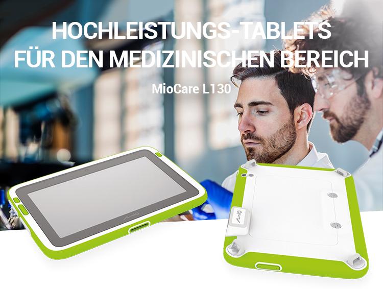 Hochleistungs-Tablets für den medizinischen Bereich: MioCare L130