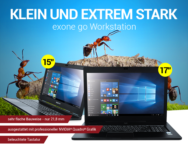 KLEIN und EXTREM STARK: exone go Workstation